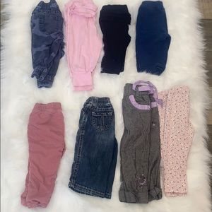 2/$25 Baby Girl 6-12M Pant/Short Lot. 9 Pieces